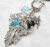Bagcharm - Silver Angel Fairy/Blue