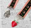 Ribbon Bookmark - Strawberry Cupcake