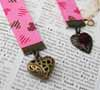 Ribbon Bookmark - Double Hearts