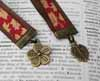 Ribbon Bookmark - Leaf and Flower